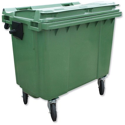 Bentley Wheelie Bin / Rear Wheels / 660 Litre / Green