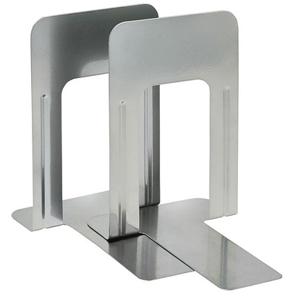 5 Star Large Metal Bookends, Silver, Pack of 2