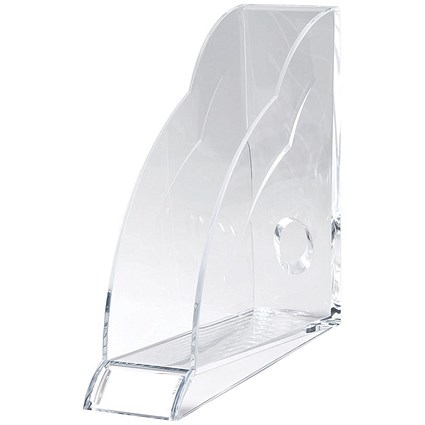 Rexel Nimbus Magazine Rack with Front Indexing Tab / A4 / Clear