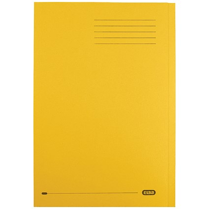 Elba StrongLine Square Cut Folders / 320gsm / Foolscap / Yellow / Pack of 50