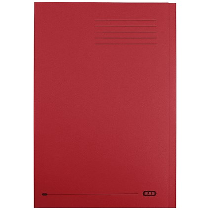 Elba StrongLine Square Cut Folders, 320gsm, Foolscap, Wine Red, Pack of 50