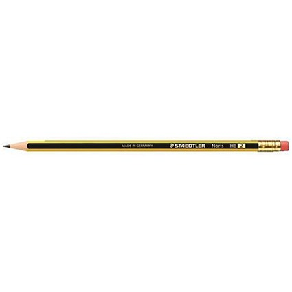 Staedtler 120 Noris Pencil / Cedar Wood / with Eraser HB / Pack of 12