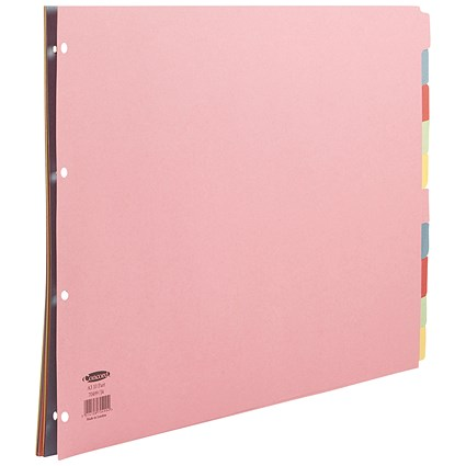 Concord Subject Dividers, Landscape, 10-Part, A3, Assorted