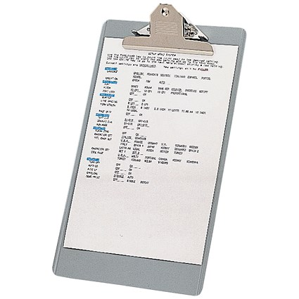 Steel Enamelled Clipboard / Foolscap / Grey