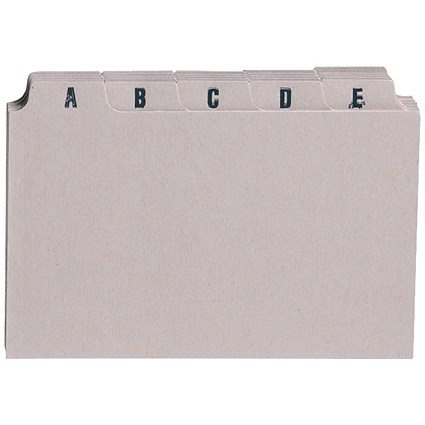 5 Star Guide Cards / A-Z / 203x127mm / Buff / Pack of 25