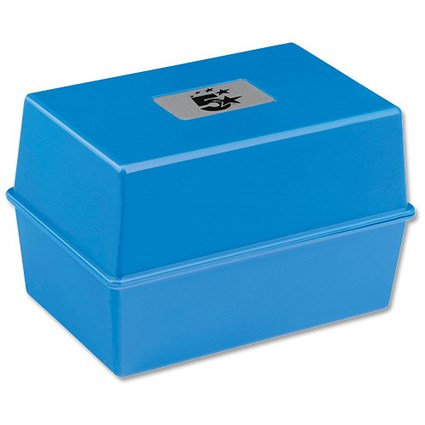 5 Star Card Index Box / Capacity: 250 Cards / 127x76mm / Blue