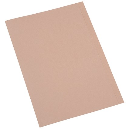 5 Star Square Cut Folders, 250gsm, Foolscap, Buff, Pack of 100