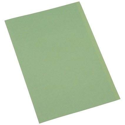 5 Star Square Cut Folders, 250gsm, Foolscap, Green, Pack of 100