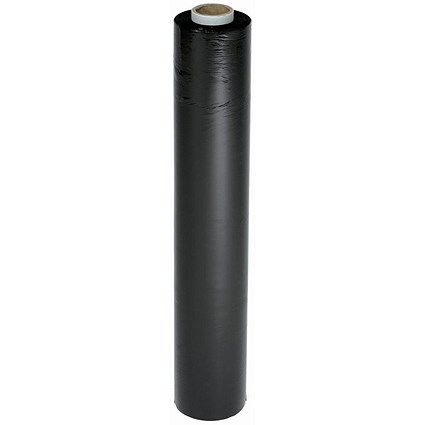 Stretch Wrap, 17 Micron, W500mm x L250m, Black, Pack of 6