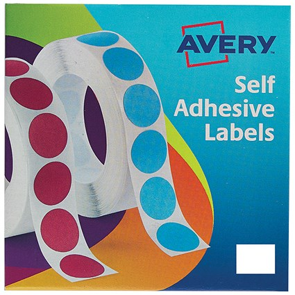 Avery Label Dispenser for Rectangular 19x25mm, White, 24-421, 1200 Labels