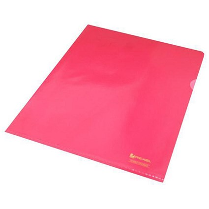 Rexel Nyrex Cut Flush Folders / A4 / Red / Pack of 25