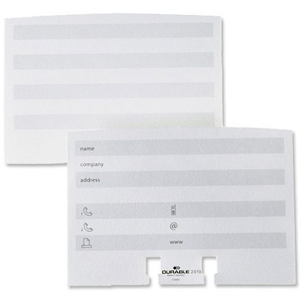 Durable Visifix Refill Cards / White / Pack of 100