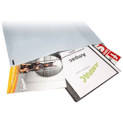 Keepsafe Extra Strong Polythene Envelopes, DX, 595x430mm, Peel & Seal, Opaque, Box of 100