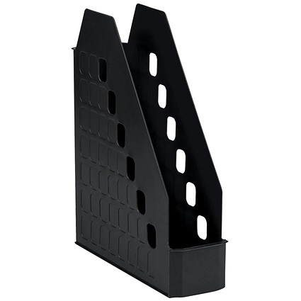 Avery Basics Low Front Magazine Rack / W78xD246xH310mm / Black