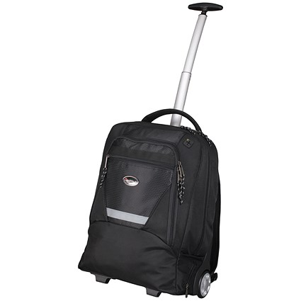 Lightpak Master Laptop Backpack with Trolley, 15.4 inch Laptop Capacity, Nylon, Black
