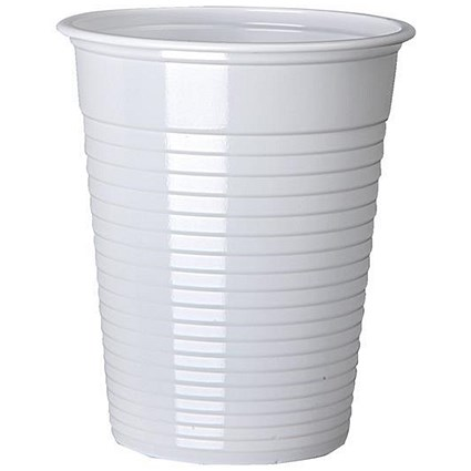 Plastic Non Vending Cups for Cold Drinks, 200ml, White, Pack of 100