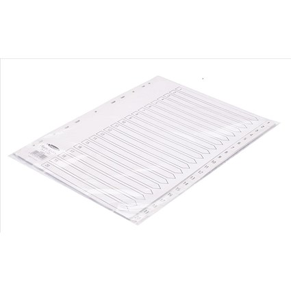 Concord Index Dividers / 1-20 / A4 / White
