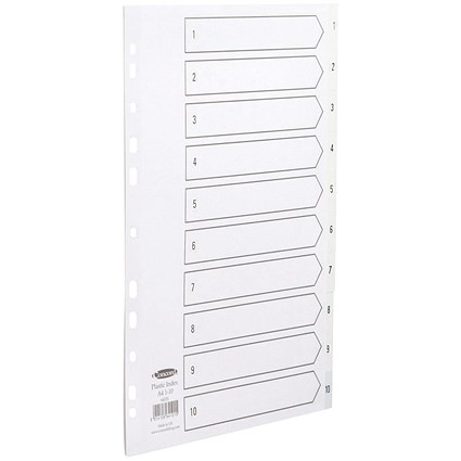 Concord Index Dividers / 1-10 / A4 / White