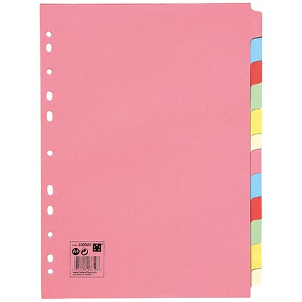 5 Star Subject Dividers / 12-Part / A4 / Assorted