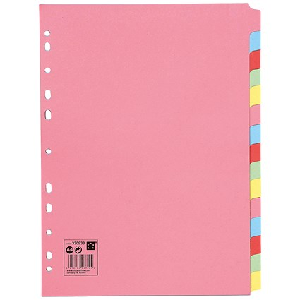 5 Star Subject Dividers / 15-Part / A4 / Assorted