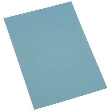 5 Star Square Cut Folders, 180gsm, Foolscap, Blue, Pack of 100
