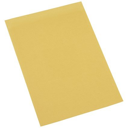 5 Star Square Cut Folders / 180gsm / Foolscap / Yellow / Pack of 100