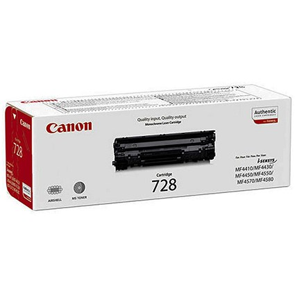 Canon 728 Black Laser Toner Cartridge