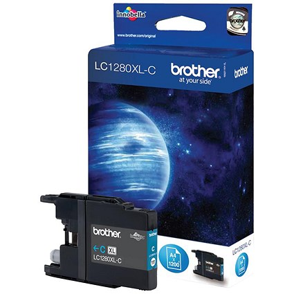Brother LC1280XLC High Yield Cyan Inkjet Cartridge