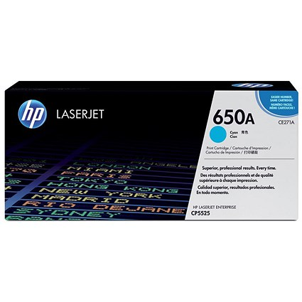 HP 650A Cyan Laser Toner Cartridge