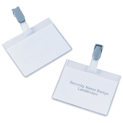 5 Star Security Badges with Plastic Clip / Landscape / 60x90mm / Pack of 25