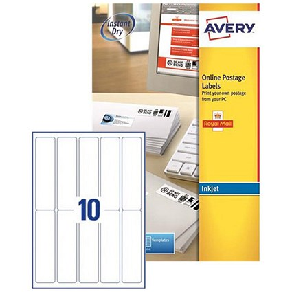 Avery Smartstamp Logo Inkjet Labels / 10 per Sheet / 135x38mm / J5103-25 / 250 Labels