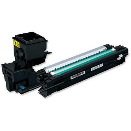 Konica Minolta A0WG07H Yellow Laser Toner Cartridge