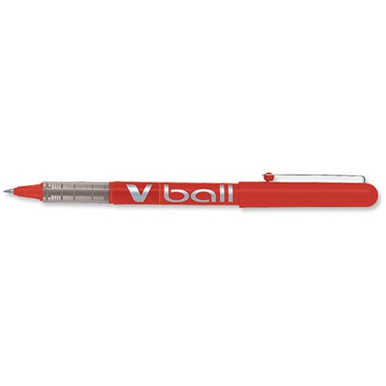 Pilot VB7 Rollerball Pen / 0.7mm Tip / 0.5mm Line / Red / Pack of 12
