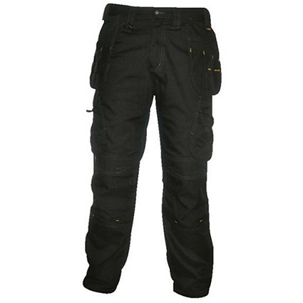 Dewalt Pro-Tradesman Trousers / Waist: 40in, Leg: 31in / Black