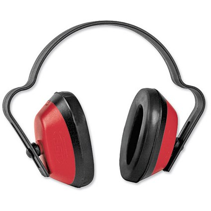 Ear Defenders / Durable Polystyrene / 23dB Noise Reduction / Red & Black
