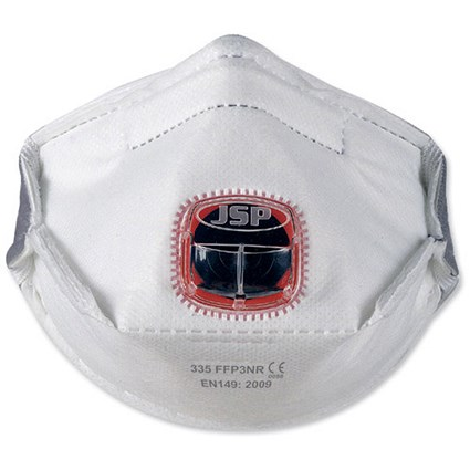 JSP Typhoon 335 Typhoon-valve Mask / FFP3 / Fold-flat / Adjustable Strap / Pack of 10