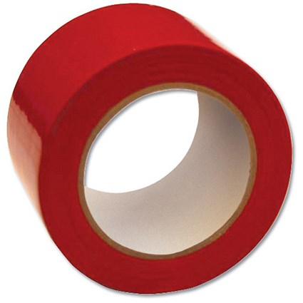 Floor Marking Tape Heavy Duty Red 75mmx33m