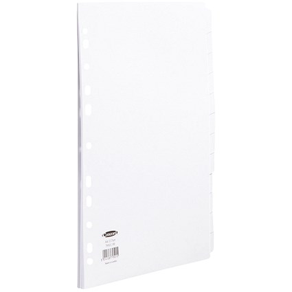 Concord Subject Dividers, 12-Part, A4, White