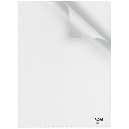 Rexel Nyrex 80 Cut Flush Folders / Embossed / Pack of 25