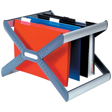 Rexel Crystalfile Extra Desk Organiser Frame for 30 Suspension Files - A4 or Foolscap