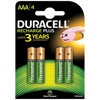 Duracell Rechargeable Battery / Accu NiMH 750mAh / AAA - Pack of 4