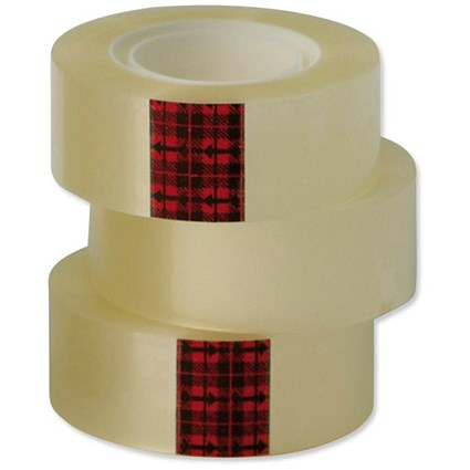 Scotch Easy Tear Transparent Tape / 24mmx33m / Pack of 6