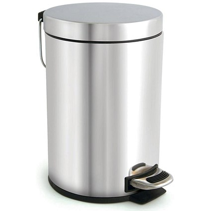 Pedal Bin / Removable Inner Bucket / 3 Litre / Stainless Steel