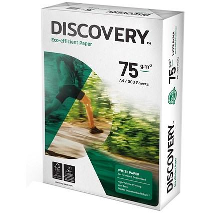 Discovery A3 Everyday Paper, White, 75gsm, Ream (500 Sheets)