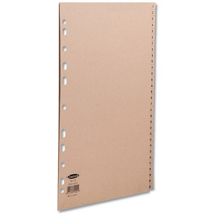 Concord Everyday Dividers, 1-31, A4, Buff