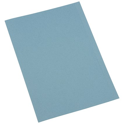 5 Star A4 Square Cut Folders / 250gsm / Blue / Pack of 100