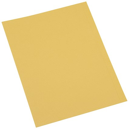 5 Star A4 Square Cut Folders, 250gsm, Yellow, Pack of 100