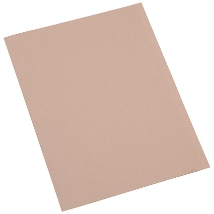 5 Star A4 Square Cut Folders, 250gsm, Buff, Pack of 100
