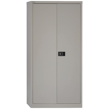 Trexus Tall Steel Storage Cupboard - Grey