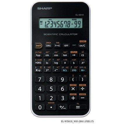 Sharp Junior Handheld Scientific Calculator, 10 Digit, Battery Power, Black